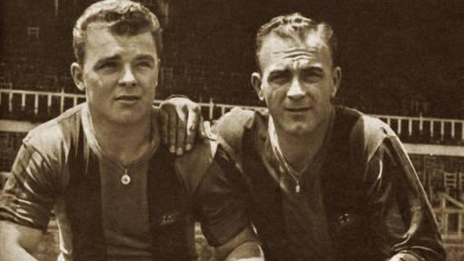 Kubala i Di Stefano 1953, Fotografia del web del FC Barcelona http://www.fcbarcelona.cat/club/historia