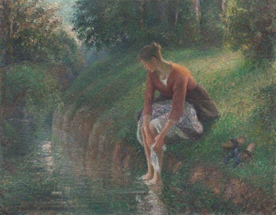 C. P. (1894-1895) Dona que es banya els peus en un rierol. Art Institute Chicago