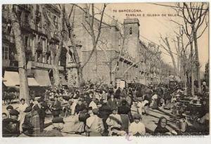La Rambla. 1900